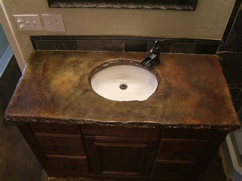 countertop bathroom sink 25 best ideas about stained concrete countertops on