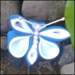 Kode C036 Blue Butterflies bros rajut aneka bros bunga
