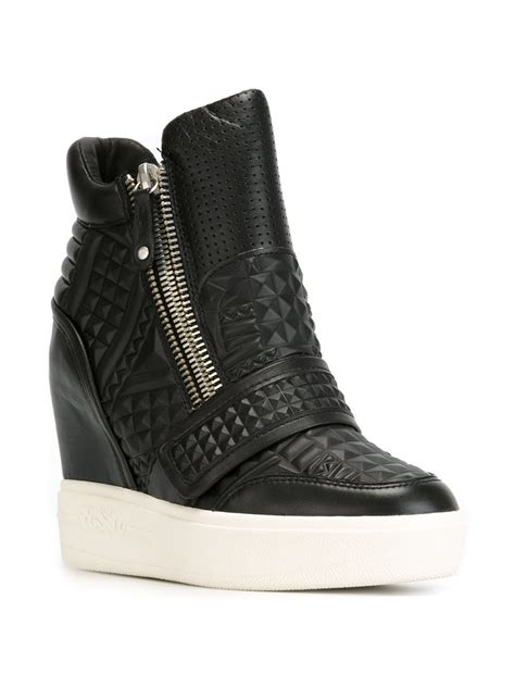 wedge sneakers ash wedge sneakers in black lyst