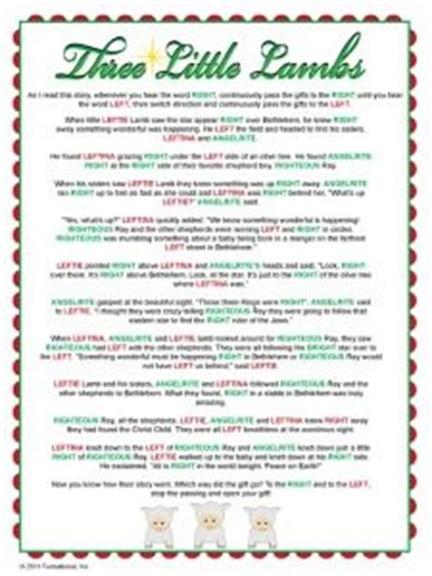 holiday gift exchange poem left right birthday printable for the home birthdays and
