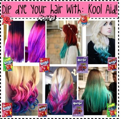 kool aid hair dye on pinterest kool aid dye hair and quot dip dye your hair with kool aid quot by nialls princess13