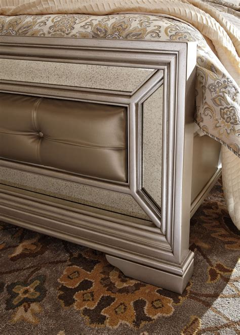 Bevelle 5 Bedroom Set by Birlanny Silver Upholstered Panel Bedroom Set B720 57 54