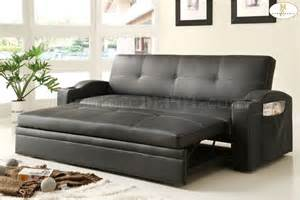 Sofa With Trundle Bed Novak Lounger Sofa 4803blk By Homelegance W Pull Out Tru
