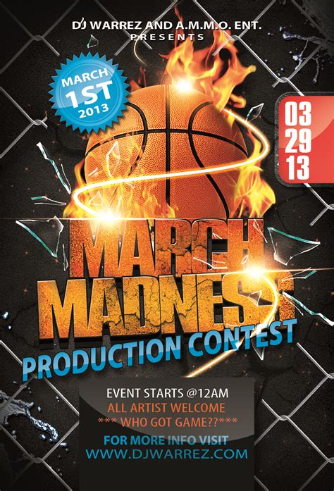 8 Best Images Of Free Printable Basketball Flyers Basketball Flyer Templates Free Free Madness Flyer Template
