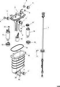 mercury marine 250 hp verado 4 stroke 6 cylinder fuel supply module parts