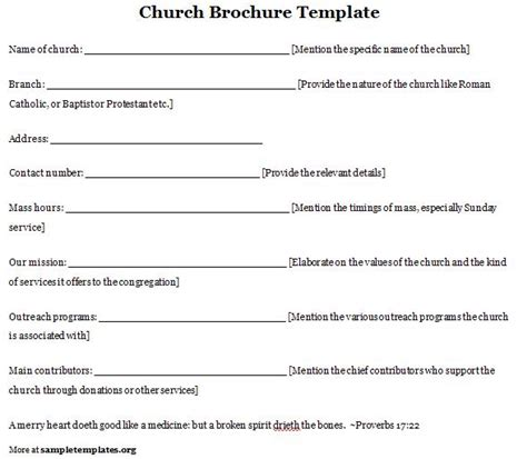 6 best images of free printable church program template