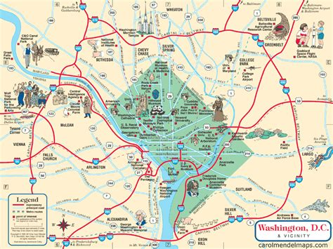 washington dc map surrounding areas map washington dc metro area washington dc map