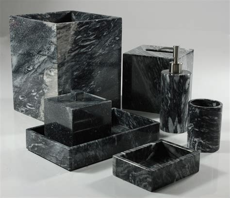 Bathroom Accessories Black Palazzo Black Bathroom Set Bathroom Accessories Chicago By And June
