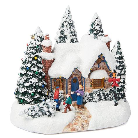 miniature christmas stone house table decor christmas