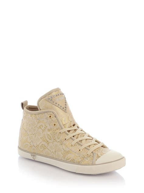 guess that sneaker guess lace sneaker in lyst
