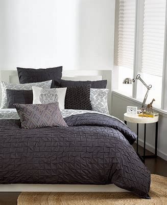 bar iii bedding bar iii box pleat carbon full queen comforter bedding