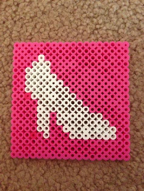 high heel coaster perler perler patterns