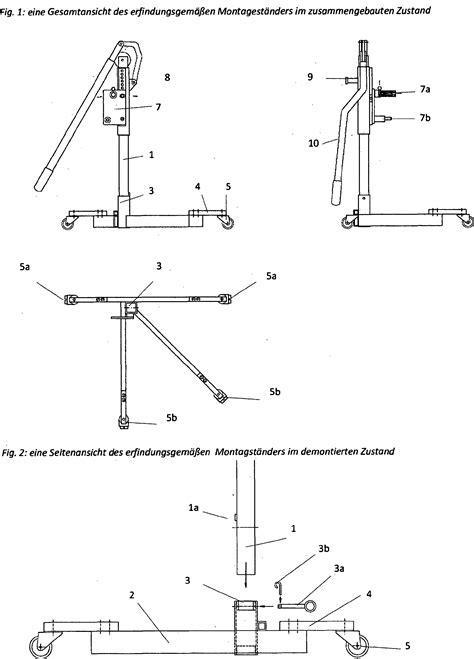 Motorradrahmen Bauen by Patent De202013006490u1 Transportabler Montagest 228 Nder