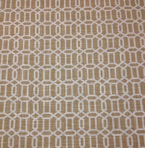 trellis fabric ballard designs laguna khaki beige lattice trellis linen