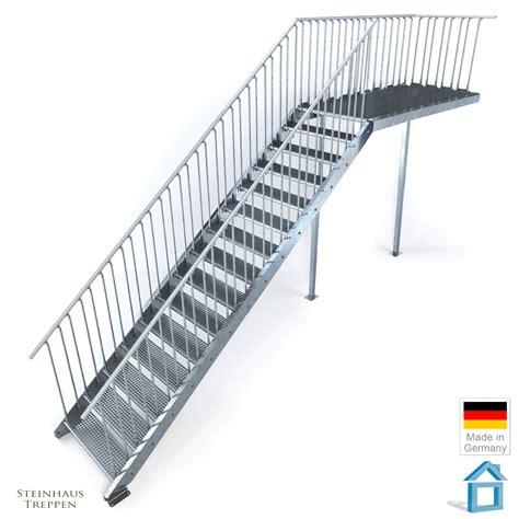 Stahlgeländer Bausatz by Feuerverzinkte Stahlrahmen Podest Mit Stahlgel 228 Nder Und
