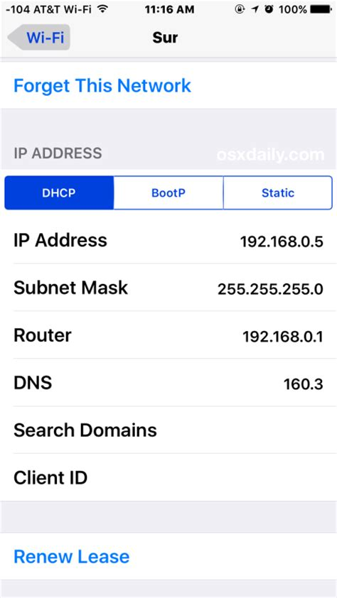 Device Ip Address Finder Find The Ip Address Of An Iphone Or In Ios