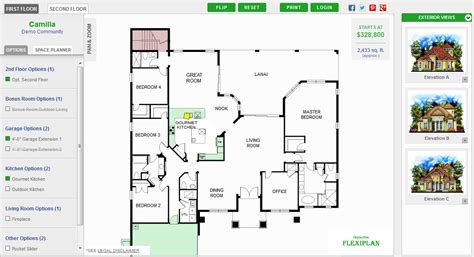 virtual floor plan html5 svg interactive floor plans for new home builders
