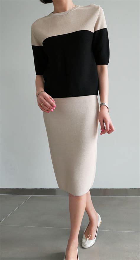 Annbaby 8 H Skirt Rok Korea littleblack knitted pencil skirt kstylick korean fashion k pop styles fashion