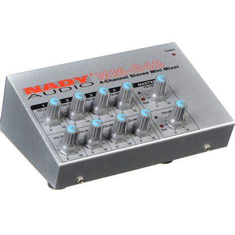 Mixer Audio Mini nady mm 242 4 8 channel mono stereo mini mixer mm 242 b h