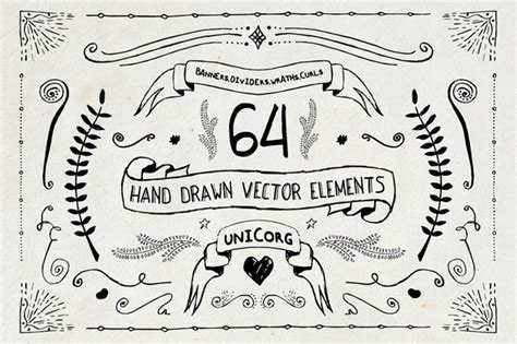 hand drawn design elements vector hand drawn vector elements pt1 illustrations on creative