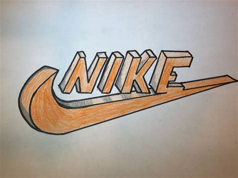 Logo Drawer by How To Draw A 3d Nike Logo Logo Drawing