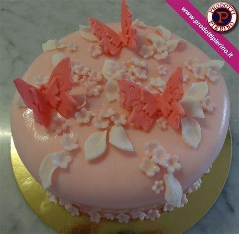 fiori di zucchero torta in pasta di zucchero con fiori e farfalle