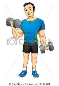 Bench Drawing Stock Illustrations Of Fitness Cartoon Illustration Of A