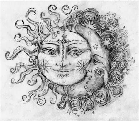 zodiac couple tattoos sun and moon that can be used
