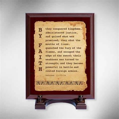 christian home decor store christian religious wood plaque with verse faith hebrews