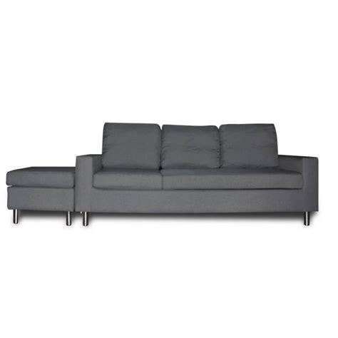 3 seater chaise lounge 3 seater couch w chaise lounge or ottoman in grey buy sofas