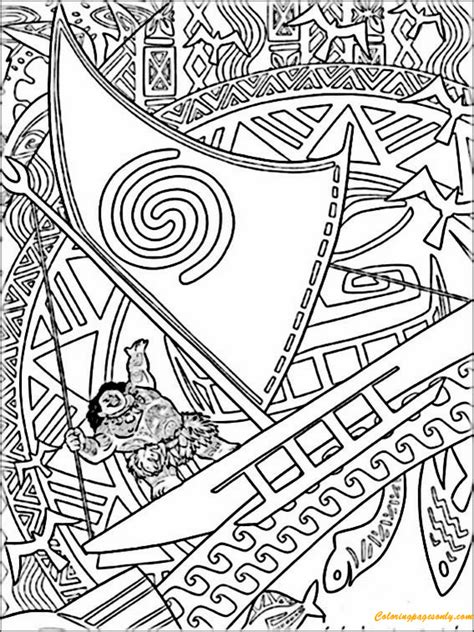 coloring book page from photo vaiana from moana coloring page free coloring pages online