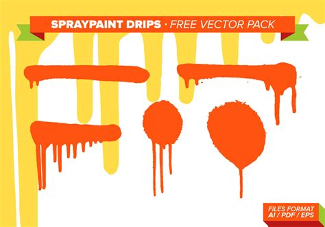 spray paint vector free spraypaint drips free vector pack free vector