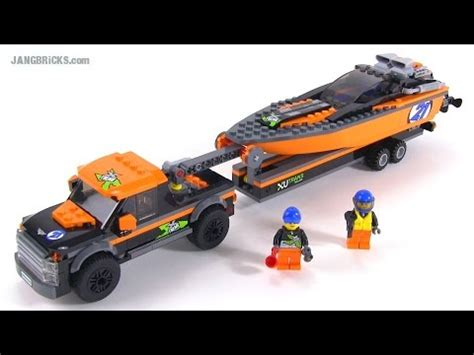 lego boat and trailer instructions lego city 2015 4x4 powerboat review set 60085 youtube