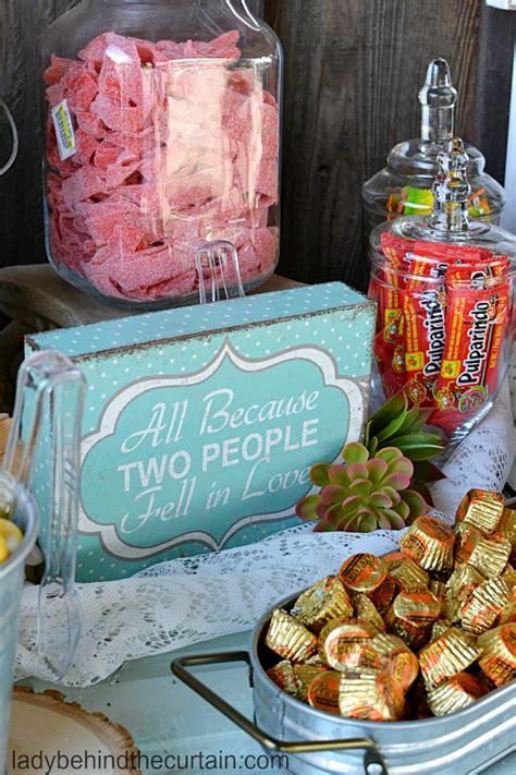 rustic wedding candy buffet