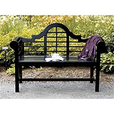 amazon garden benches amazon com achla designs lutyens 4 foot bench black