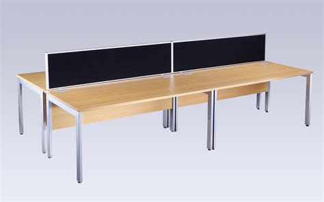 bench computer bench computer it office desk oak and silver 800mm deep specialist furniture contracts
