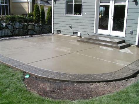 Smooth Concrete Patio by Smooth Concrete Patios And Backyards On