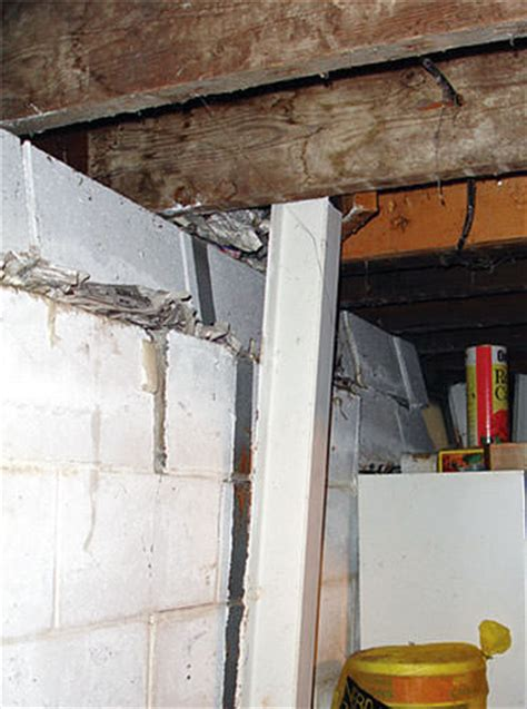 basement wall support i beams repairing straightening tilting foundation walls in jacksonville pensacola tallahassee fl