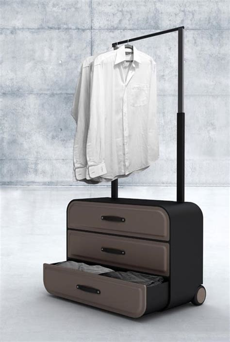 Portable Dresser by Closet Suitcase Dresser On Wheels For Business Travelers