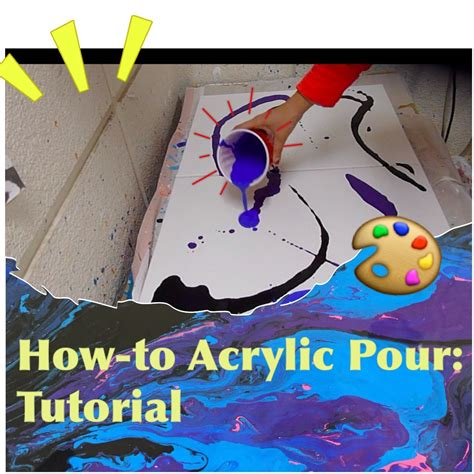 acrylic paint how does it take to acrylic pour tutorial