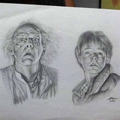 Inspect Sketches B And D by Check Out This Amazing Back To The Future Drawing From