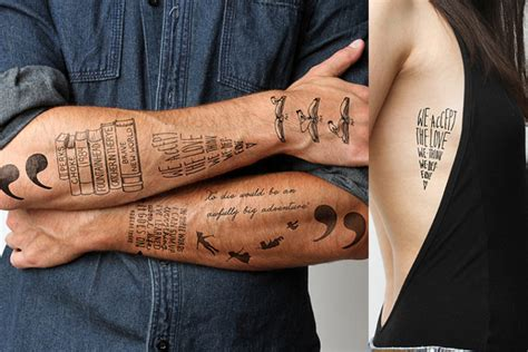 tattoo love book 10 temporary literary tattoos to get your non permanent