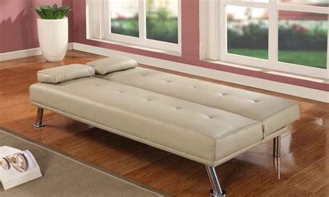 sofa style bed groupon claviere italian style sofa bed groupon goods