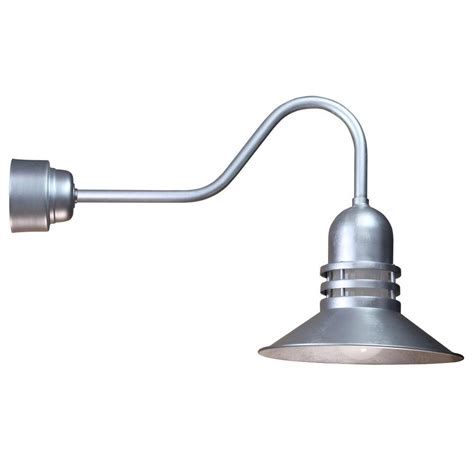 Galvanized Wall Sconce Illumine 1 Light Outdoor Galvanized Angled Arm Orbitor Shade Wall Sconce With Frosted Glass And