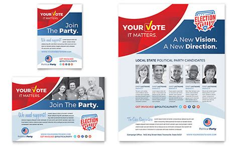 Election Postcard Template Design Election Postcard Template