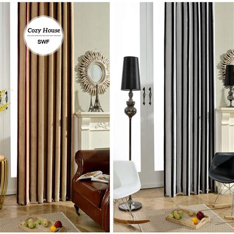 black and white striped bedroom curtains striped modern curtain blackout curtains for bedroom black