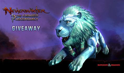 Neverwinter Giveaway - neverwinter lion mount free giveaway