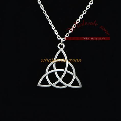 wf0711 charmed tv series antique silver pendant necklace