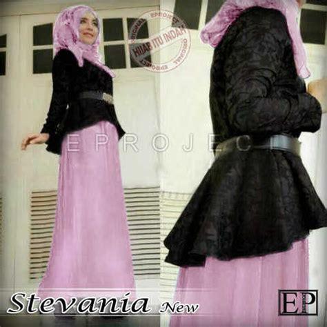 Baju Anak Gaun Sevato Pink gamis modern stevania brokat p760 m model baju muslim pesta