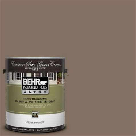 Sugar Creek Home Decor by Behr Premium Plus Ultra 1 Gal Ul160 21 Mocha Latte Semi